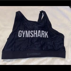 Gymshark athletic logo sports bra Black Sz L